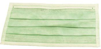 AMPRI-Einweg-Einmal-Mundschutz, MED COMFORT, 3-lagig, runde Elastikbänder, VE = Pkg. á 50 Stück, limette