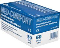 AMPRI-Einweg-Einmal-Mundschutz, MED COMFORT, Typ IIR, 3lagig, runde Elastikbänder, weiß, VE = Pkg. á 50 Stk.