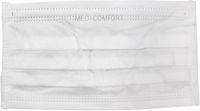 AMPRI-Einweg-Vlies-Einmal-Mundschutz, MED COMFORT, 2lagig, runde Elastikbänder, weiß, VE = Pkg. á 50 Stk.