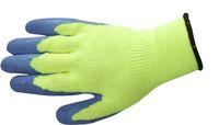 AMPRI-Acryl-Arbeits-Handschuhe, ICE, Profi-Qualität, Mittelstrick, nahtlos, VE = Pkg. á 12 Paar, blau/gelb