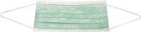 AMPRI-Einweg-Einmal-Mundschutz, ECO PLUS, Typ II, 3lagig, runde Elastikbänder, grün, VE = Pkg. á 50 Stk.