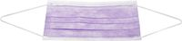 AMPRI-Einweg-Einmal-Mundschutz, ECO PLUS, Typ II, 3lagig, runde Elastikbänder, lila, VE = Pkg. á 50 Stk.