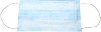 AMPRI-Einweg-Einmal-Mundschutz, BASIC PLUS, 3-lagig, latexfreie Elastikbänder, VE = Pkg. á 50 Stück, blau