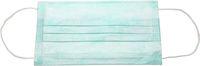 AMPRI-Einweg-Einmal-Mundschutz, BASIC PLUS, 3-lagig, latexfreie Elastikbänder, VE = Pkg. á 50 Stück, grün