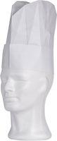 AMPRI-Einweg-Einmal-Kochmütze, FRENCH CLASSIC OVAL, aus geprägtem Papier, gelegte Falten, VE = Pkg. á 10 Stück, weiß