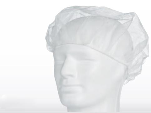 AMPRI-Einweg-Barett-Einmal-Hauben, PP, MED COMFORT, blau, VE = Pkg. á 100 Stk.