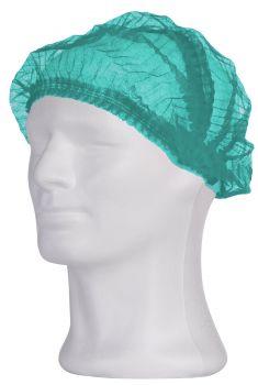 AMPRI-Einweg-Einmal-Klipphauben, PP, ECO PLUS, 52 cm, grün, VE = Ktn. a 2000 Stk.