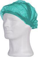 AMPRI-Einweg-Klipp-Einmal-Hauben, PP, ECO PLUS, 52 cm, grün, VE = Pkg. á 100 Stk.