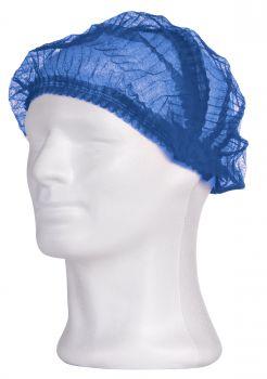 AMPRI-Einweg-Einmal-  AMPRI-Einweg-Hauben, Einmal-Klipp-Hauben, PP ECO PLUS, 52 cm, blau, VE = Pkg. a`100 Stk.