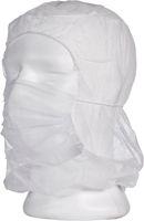 AMPRI-Einweg-Astronauten-Einmal-Hauben mit Mundschutz, MED COMFORT, PP, weiß, mit 2-lagigem Mundschutz, VE: á 100 Stk.