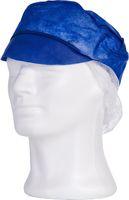AMPRI-Einweg-Einmal-Mützen, mit Schirm und Haarnetz, VE = Pkg. á 100 Stück, marineblau