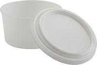 AMPRI-Hygiene, Einweg-Zahnprothesen Becher, 270 ml, mit Deckel, VE = Karton á 168 Stück, weiß