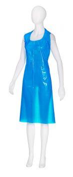 AMPRI-Einweg-PE-Schürzen, Einmalschürzen, heavy, MED COMFORT, glatte Oberfläche, 75 x 140 cm, blau, lose, VE = 50 Stück