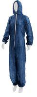 AMPRI-Einweg-Overall, Einmal-Schutz-Anzug, MED COMFORT, Safe Protect, VE = 50 Stück, blau