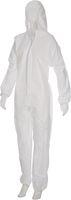 AMPRI-Einweg-Overall, Einmal-Schutz-Anzug MED COMFORT, Safe Protect, VE = 50 Stück, weiß
