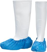 AMPRI-Einweg-CPE-Einmal-Über-Schuhe, MED COMFORT, gehämmert, mit Gummizug, extra stark, VE = Pkg. á 100 Stück, blau