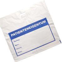 AMPRI-Hygiene, Tragetaschen, Patienten-Eigentum, LDPE, 570 x 500 x 45 cm, VE = 500 Stück, weiß