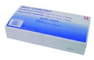 AMPRI-Hygiene, Zelltuch-Serviette, MED COMFORT, 40 x 40 cm, 2-lagig, VE = Ktn. á 1500 Stück, weiß