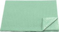 AMPRI-Hygiene, Einweg-Patienten-Servietten, 33 x 45 cm, Tissue/PE, VE = 500 Stück, grün