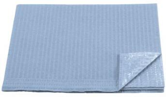 AMPRI-Hygiene, Einweg-Patienten-Servietten, 33 x 45 cm, Tissue/PE, VE = 500 Stück, hellblau