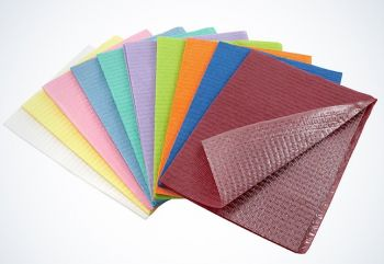 AMPRI-Hygiene, Einweg-Patientenservietten, 33 x 45 cm, Tissue/PE, VE = 500 Stück, pink
