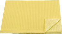 AMPRI-Hygiene, Einweg-Patienten-Servietten, 33 x 45 cm, Tissue/PE, VE = 500 Stück, gelb