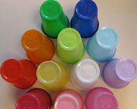 AMPRI-Hygiene, Mund-Spülbecher, HAPPY KIDS, ca. 180 ml, VE = 60 Beutel á 50 Stück, weiß mit Bärchendruck
