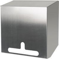 AMPRI-Universal-Spender aus Edelstahl für Einweg-Einmal- Handschuhe, Klipphauben usw., Maße: 300 x 300 x 140 mm