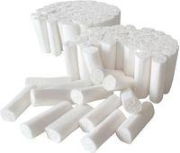 AMPRI-Einweg-Einmal-Zahn-Watterollen, MED COMFORT, chlorfrei gebleicht, VE = Ktn. á 5 x 300 gr.