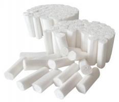 AMPRI-Hygiene, Einweg-Einmal-Zahn-Watterollen, MED COMFORT, chlorfrei gebleicht, VE = Ktn. á 5 x 300 gr.