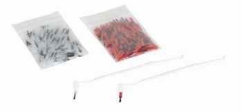 AMPRI-Hygiene, Composite-Einweg-Pinsel, VE = Pkg. á 100 Stück, rot