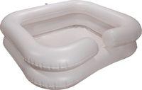 AMPRI-Hygiene, Waschbecken, aufblasbar, mit Pumpe und Duschvorrichtung, 65 x 58 x 20 cm, VE = 1 Stück, weiß