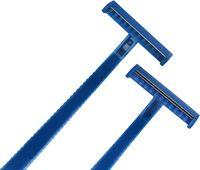 AMPRI-Hygiene, Einweg-Rasierer, MED COMFORT, einschneidig, VE = Box á 100 Stück, blau