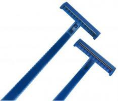 AMPRI-Hygiene, Einweg-Rasierer, MED COMFORT, zweischneidig, VE = Box á 100 Stück, blau