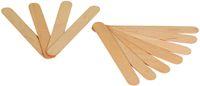 AMPRI-Hygiene, Einweg-Holz-Mund-Spachtel, MED COMFORT, unsteril, 150 x 17 x 1,5 mm, VE = Spender á 100 Stück
