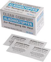 AMPRI-Hygiene, Alkoholtupfer, CLEAN COMFORT, einzeln verpackt, VE = Pkg. á 100 Stück