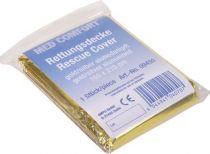 AMPRI-Hygiene, Rettungsdecke, MED COMFORT, 210 x 160 cm, eine Seite gold, eine Seite silber, VE = 200 Stück