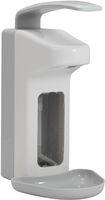 AMPRI-Zubehör, Wand-Spender für Desinfektionsmittel, Kunststoff, 1000 ml, 320 x 120 x 230, VE = 1 Stück, weiß/grau