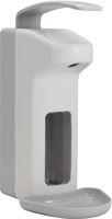 AMPRI-Zubehör, Wand-Spender für Desinfektionsmittel, Kunststoff, 500 ml, 310 x 120 x 205, VE = 1 Stück, weiß/grau