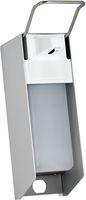 AMPRI-Zubehör, Wand-Spender für Desinfektionsmittel, 500 ml, Aluminium Gehäuse und Kunststoffpumpe, 270 x 81 x 160 mm, VE = 1 Stück