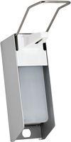 AMPRI-Zubehör, Wand-Spender für Desinfektionsmittel, 500 ml, Aluminium Gehäuse und Kunststoffpumpe, 270 x 81 x 230 mm, VE = 1 Stück