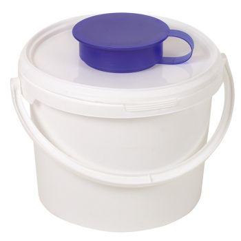 AMPRI-Spendereimer für Vliesrollen, leichte Handhabung beim Nachfüllen, Feuchttuch-Entnahme, 6,2 l, 212 mm hoch, VE = 1 Stück