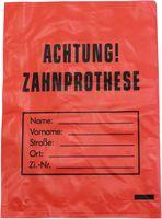 AMPRI-Hygiene, Zahn-Prothesen-Beutel, LDPE, 160 x 230, 35 my, VE = 2000 Stück im Karton, rot