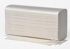 AMPRI-Papier-Falt-Handtücher, 2-lagig, Interfalz, 25 x 23 cm, VE = 20 x 150 Blatt, Recyclingqualität, weiß