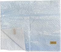 AMPRI-Einmal-Esslätzchen, zum Kleben, mit Auffangtasche, 64 x 37 cm, blau, VE = 8 Beutel á 125 Stück