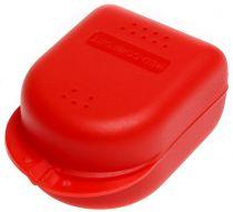 AMPRI-Hygiene, Zahn-Spangen-Box für Kinder, PP, VE= 14 Stück, Karton = 16 x 14 Stück, rot