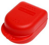 AMPRI-Hygiene, Zahn-Spangen-Box für Erwachsene, PP, VE= 10 Stück, Karton = 18 x 10 Stück, rot