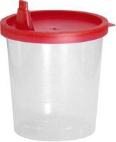 AMPRI-Hygiene, Urin-Probe-Becher, mit rotem Schnappdeckel, VE: 500 Stück