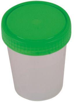 AMPRI-Hygiene, Urinprobe-Becher, mit rotem Schraubdeckel, 125 ml, VE = 500 Stück