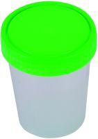AMPRI-Hygiene, Urin-Probe-Becher, mit grünem Schraubdeckel, 125 ml, VE: 500 Stück